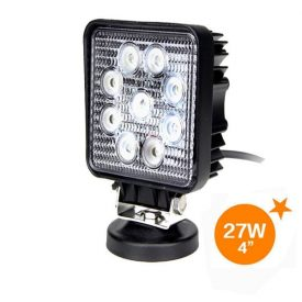 "4"" 1170 Lumen 27 Watt Square LED Flood Light-0"
