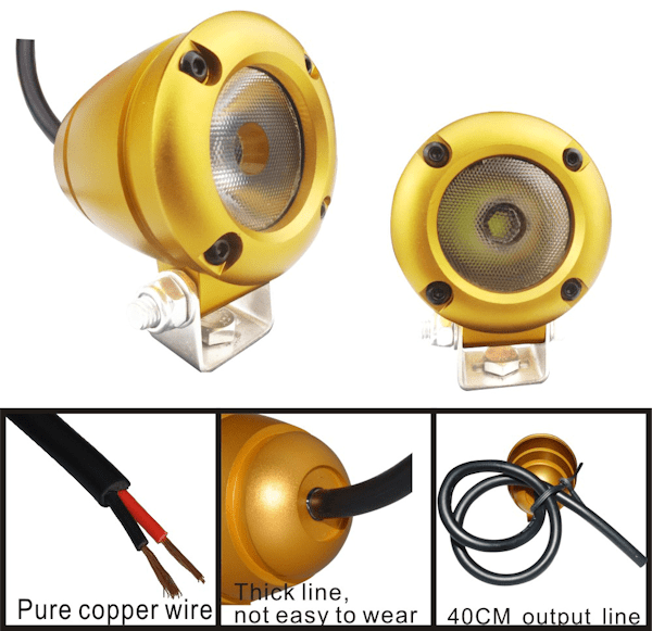 10 watt 1080 lm Gold XML-T6 CREE LED Aluminium Spot Light-0