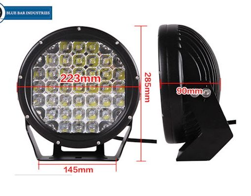 2 x 9 inch CREE 30,000 lumen 185 watt LED Focused Beam Driving Lights-250