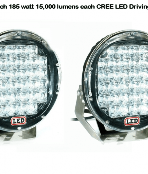 2 x 9 inch CREE 30,000 lumen 185 watt LED Focused Beam Driving Lights-338