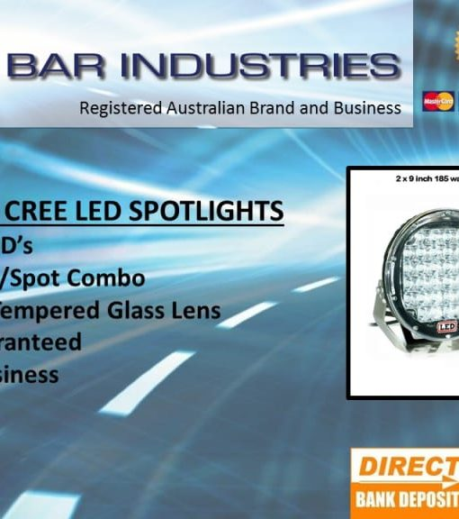 2 x 9 inch CREE 30,000 lumen 185 watt LED Focused Beam Driving Lights-0