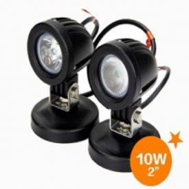 "2"" 800 Lumen 10 watt x 2 CREE Round Flood Light-0"