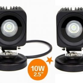 "2.5"" 800 Lumen 10 Watt x 2 CREE LED Square Flood Work Light-0"