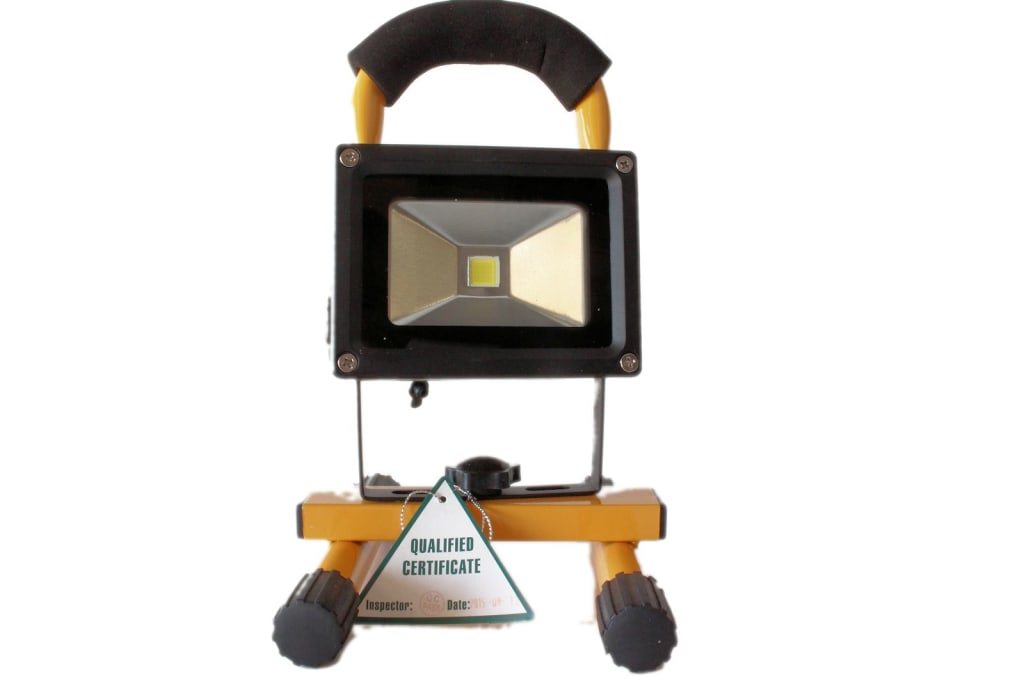 10 watt Portable LED Flood Light with 240 v and 12 v Charger