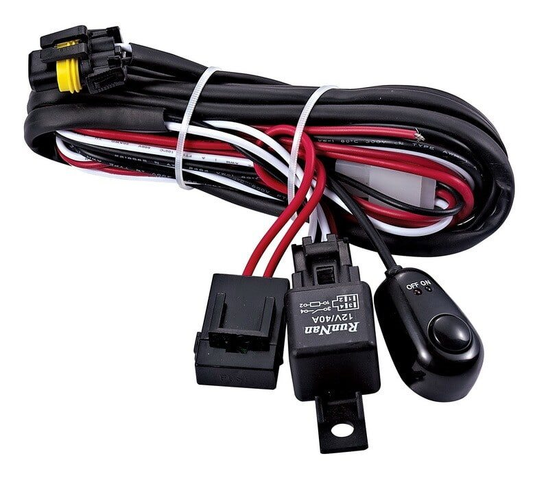 Dual Light Wiring Harness Loom 12 Volt 40 Amp Relay Led