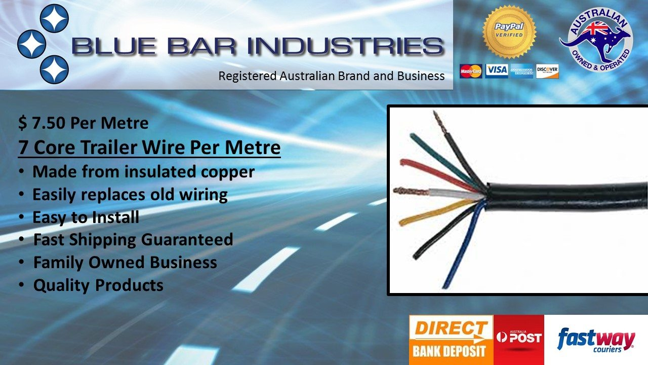 7 Core Trailer Wire - sold per metre | Bluebar Industries