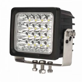 """6.5"""" 100w CREE Square Heavy Duty Work Light Front View"""