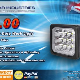 "5"" 60w Square CREE Heavy Duty Work Light-0"