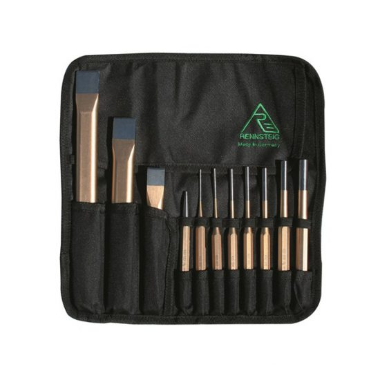 RENNSTEIG 11 Piece Chisel Punch Set RCP11